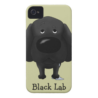 Big Nose Black Labrador iPhone 4 Case-Mate Case