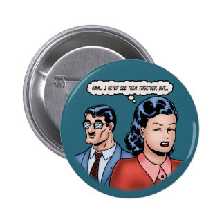 Big-Nose Disguise Pinback Buttons