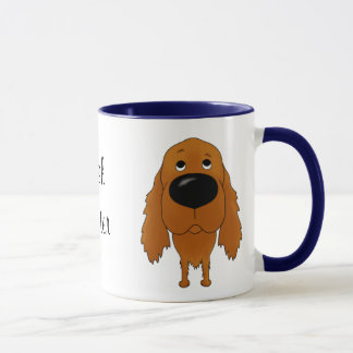 Big Nose Irish Setter Mug