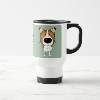 Big Nose Rough Collie Coffee Mugs