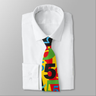 Big Number 5 Tie for 50th or 55th Birthday