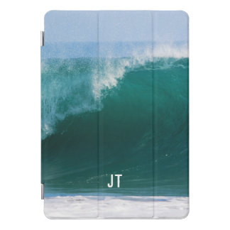 Big Ocean Wave Awesome Monogram iPad Pro Cover