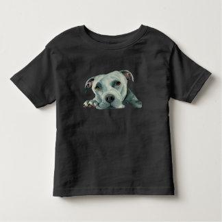 Big Ol' Head - Pit Bull Dog Watercolor Painting Toddler T-Shirt
