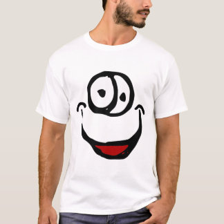 big open mouth cartoon smile face T-Shirt