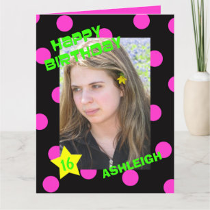Big Or Large Birthday Cards With Age And Photo