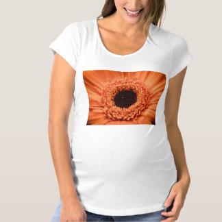 Big Orange Gerbera Daisy Maternity T-Shirt