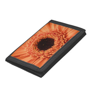 Big Orange Gerbera Daisy Tri-fold Wallet