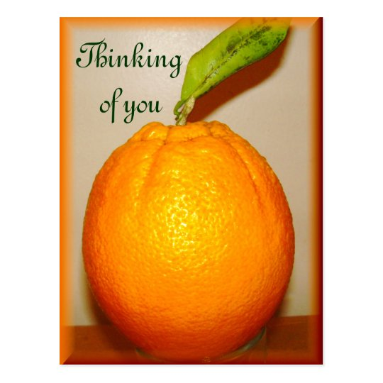 Big Orange ,Thinking of you_ Postcard