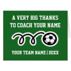 Big oversized Thank You card for soccer coach