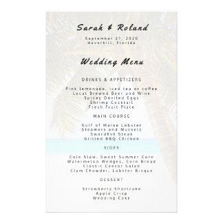 Big Palm Tree Beach Wedding Custom Menu 14 Cm X 21.5 Cm Flyer