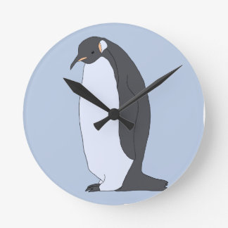 Big Penguin Round Clock