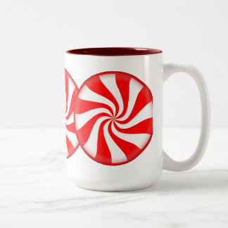 Big Peppermint Candy Two-Tone Coffee Mug