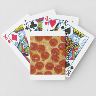 big pepperoni pizza bicycle playing cards