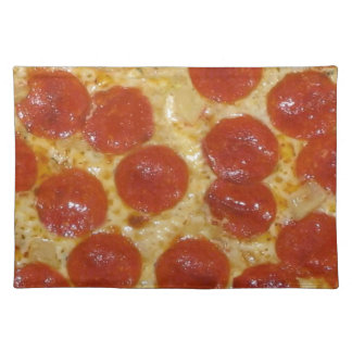 big pepperoni pizza placemat