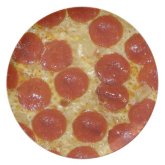 big pepperoni pizza plate