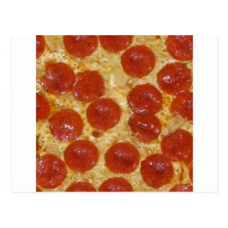big pepperoni pizza postcard