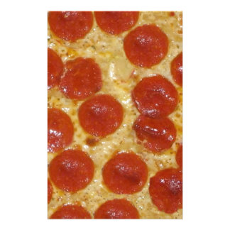 big pepperoni pizza stationery