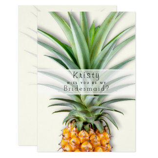 Big Pineapple Be My Bridesmaid Message Flat Card
