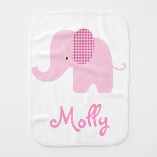 Big Pink Baby Elephant Burp Cloths