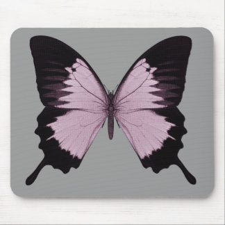 Big Pink & Black Butterfly - Personalize Mousepad
