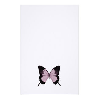 Big Pink & Black Butterfly - Personalize Custom Stationery
