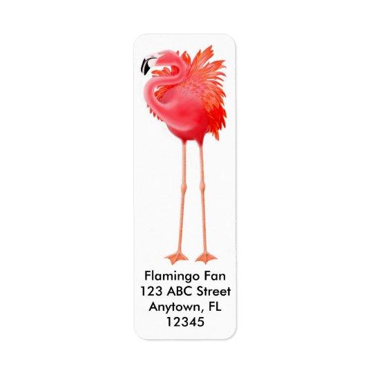 Big Pink Flamingo Label