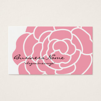 Big Pink Flower Business Card