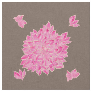 Big pink flowers fabric