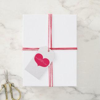 Big Pink Heart - Romantic Gift Tags