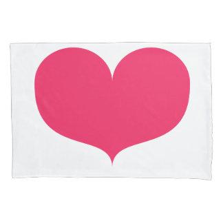Big Pink Heart Single Pillowcase