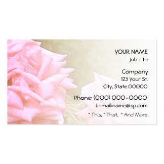 Big Pink Roses Blend Business Card Templates