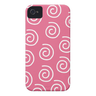 Big Pink Swirls Case-Mate ID™ iPhone 4 Cases