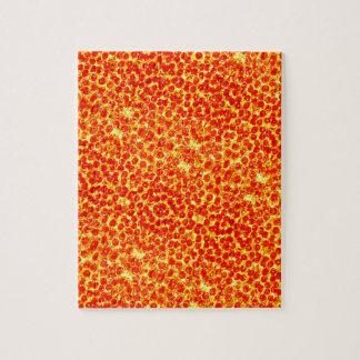 Big Pizza Pattern Jigsaw Puzzle