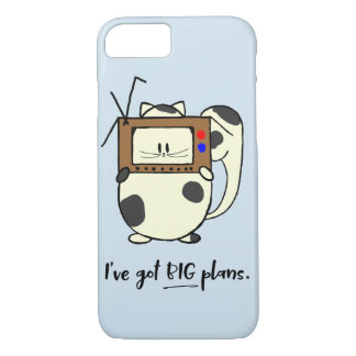 Big Plans TV Cat Cute Cartoon iPhone Case