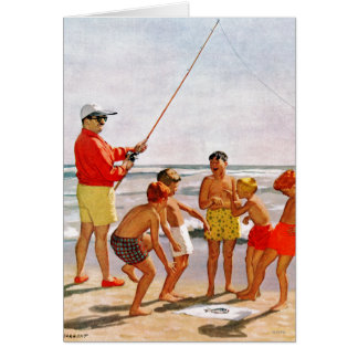 Big Pole Little Fish by Richard Sargent Card