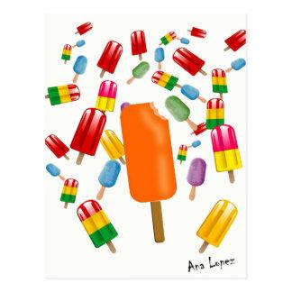 Big Popsicle Chaos by Ana Lopez Postcard
