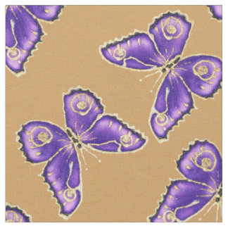 Big Purple Butterfly pattern Fabric