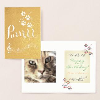 Big Purr Cats Paws Music Foil Card