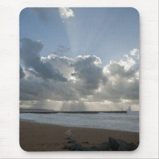 Big rays through clouds mouse pad