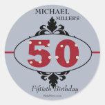 Big Red 50th - Birthday Party Sticker