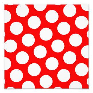 Big Red and White Polka Dots Photo Art