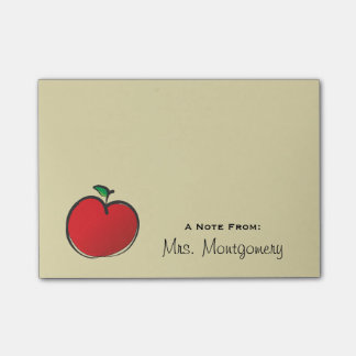 Big Red Apple Personalized Post-it® Notes