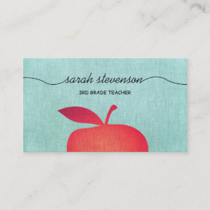 Cards Zazzle Au Apple Teacher Gifts Red Business