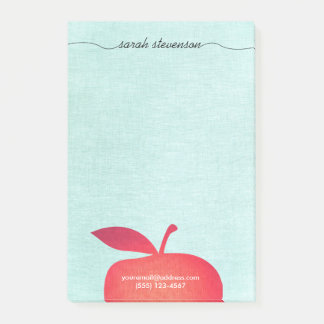 Big Red Apple School Teacher Education Post-it Notes