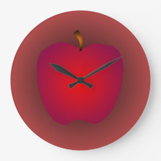 Big Red Apple Wall Clock