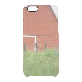Big Red Barn Clear iPhone 6/6S Case