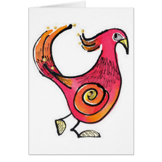 Big Red Bird Notecard