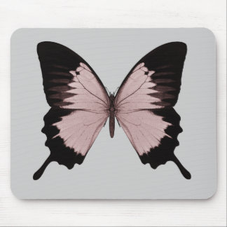 Big Red & Black Butterfly Mouse Pads