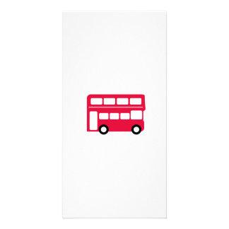 Big Red Bus Photo Greeting Card