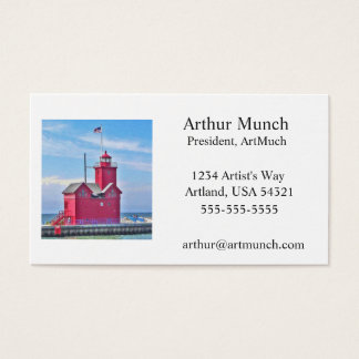 Big Red Business Card